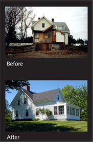 Isleboro Farmhouse Before and After photos